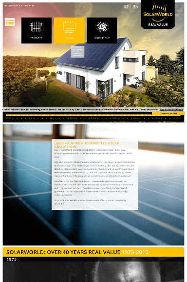 Solar World 40 years value front